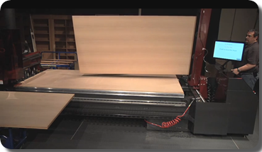 Thermwood Cut Center Flipping a Sheet